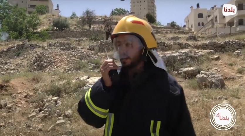مراسل بلدنا يخوض تجربة اطفاء حقيقية برفقة الدفاع المدني